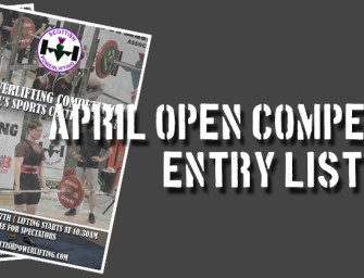 Aberdeen & Perth Open Entry Lists